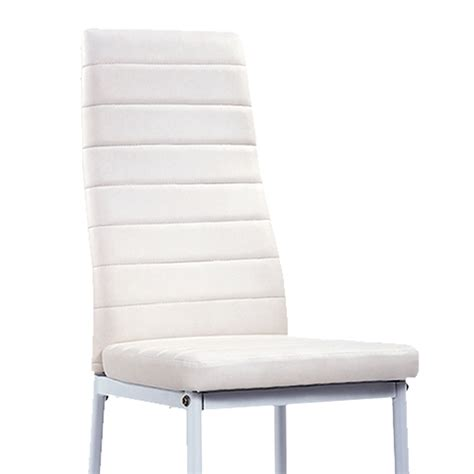lot 6 chaises blanches deco in lot de 6 chaises blanches iris lot6chaiseiris