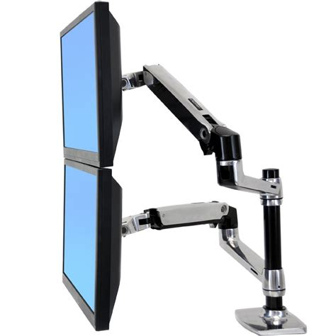 ergotron monitor desk mount ergotron 45 248 026 lx dual stacking arm