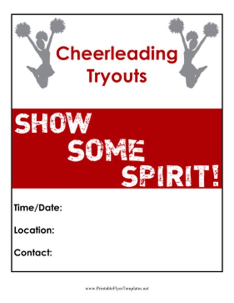 Permalink to Cheerleading Flyer Template
