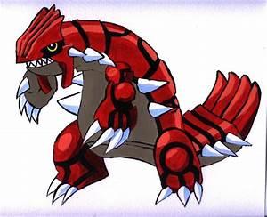 How to draw pokemon. groudon