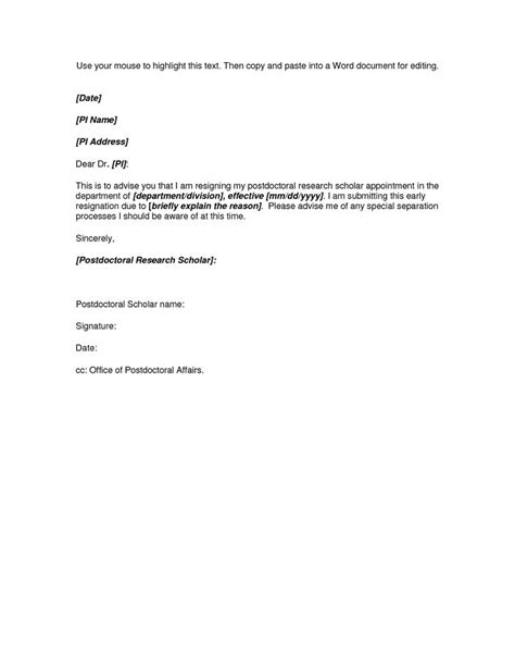 resignation letter format ideas  pinterest