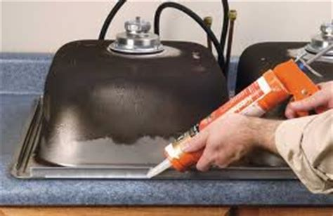 silicone around kitchen sink sealing around a sink 5211