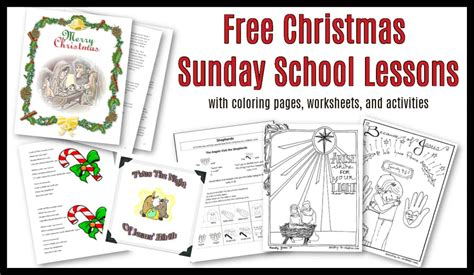 christmas sunday school lessons activities