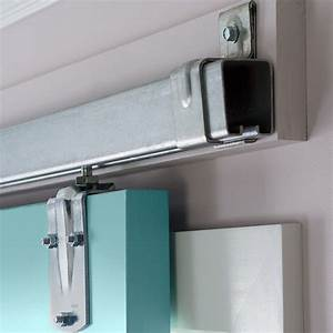 sliding door hardware on a ledger board instead of With barn door mounting board