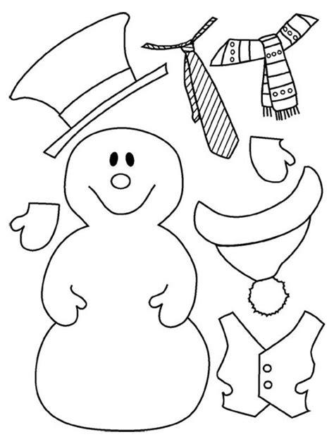 hay  colorear  vestir tu muneco de nieve web pedagogica infantil