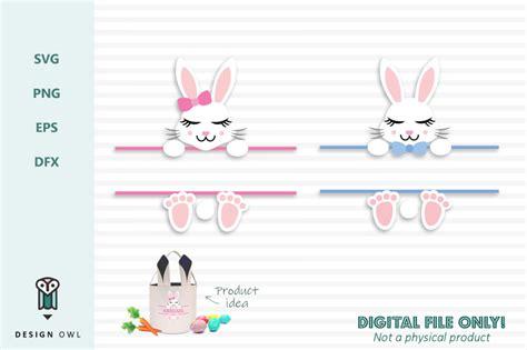 easter bunny  monogram frame svg file  design owl thehungryjpegcom
