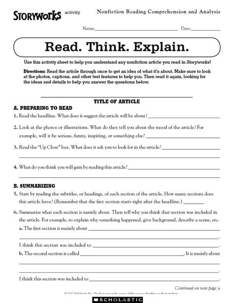 4th grade nonfiction reading passages pdf thanksgiving
