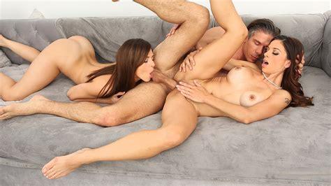 Naked Girls Teen And Stepmom Enjoy One Big Cock Together In An Amazing Threesome Xxx Femefun