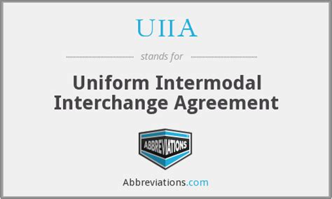 uiia uniform intermodal interchange agreement