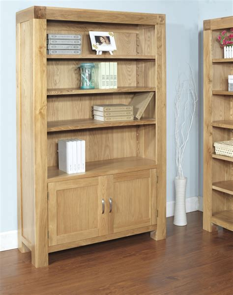 oak bookcase with doors bookcases ideas amish bookcases furniture in solid wood