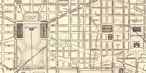 1885 Map of Washington Sewers and Water Mains Ghosts of DC