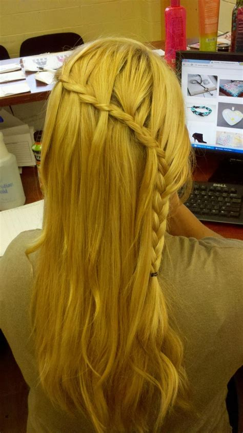 braided hairstyles   crown braids  waterfall