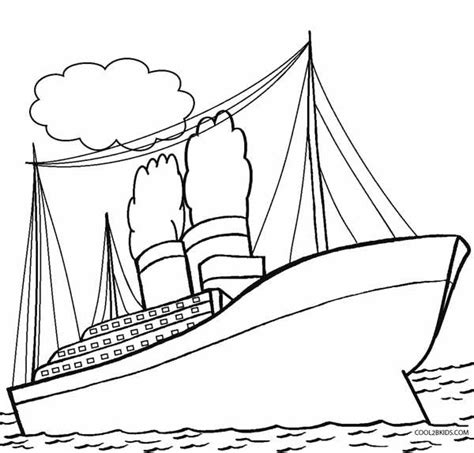 Titanic Kleurplaat by Printable Titanic Coloring Pages For Cool2bkids