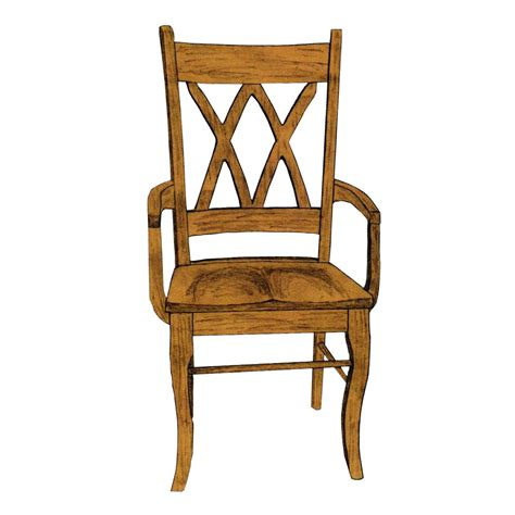 Double X Arm Chair  Amish Oak Furniture & Mattress Store