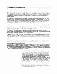 Space exploration benefits essay example