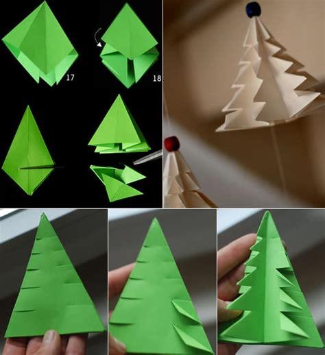 kreative dekoideen mit diy oriami tannenbaumtannenbaum