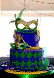 Mardi Gras Themed Birthday Cake