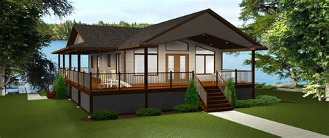 house plan cabin plan edesignsplansca wrap covered deck vaulted ceiling