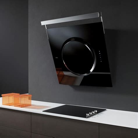 hotte d angle de cuisine hotte cuisine elica murale om touch screen 80 cm
