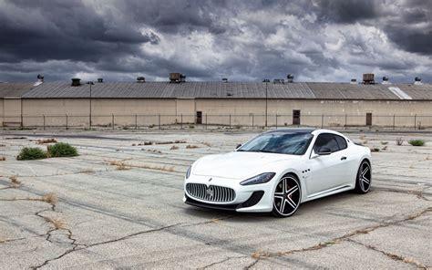 Maserati Granturismo White Wallpaper