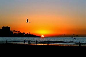 Sunset On La Jolla Beach Photograph by Sally Bauer