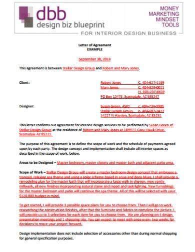 interior designer contract templates sample