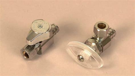 sink water shut off valve how to install a brasscraft pex valve youtube
