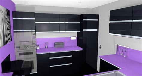 d馗oration cuisine moderne cuisine moderne noir et violet waaqeffannaa org design d 39 intérieur et décoration