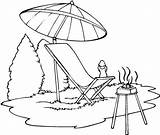 Coloring Summer Camp Barbeque Pages Drawing Getdrawings sketch template
