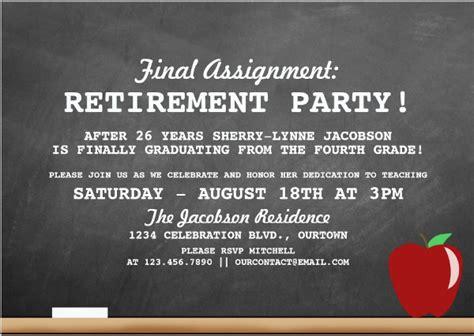 retirement party invitations psd ai