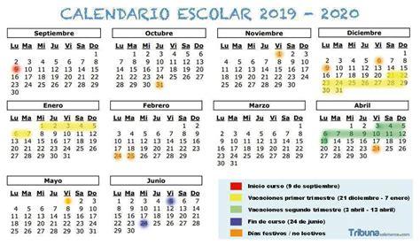 calendario escolar fechas de inicio final de