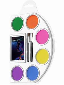 Maquillage Fluo Visage : palette aqua color visage et corps 6 couleurs fluo le ~ Farleysfitness.com Idées de Décoration