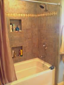 bathroom niche ideas fiberglass tub with tile surround and shoo niches