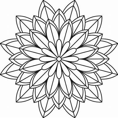 Mandala Coloring Pages Flower Simple Patterns Printables