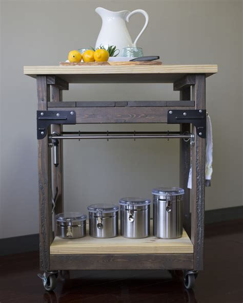 diy   build  mobile kitchen island building strong