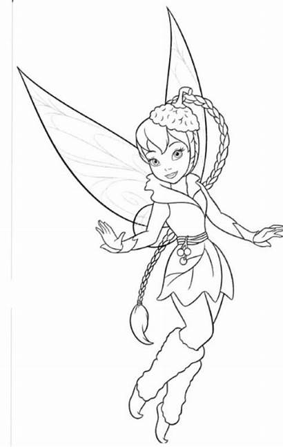 Tinkerbell Coloring Pages Friends Tinker Bell Fawn