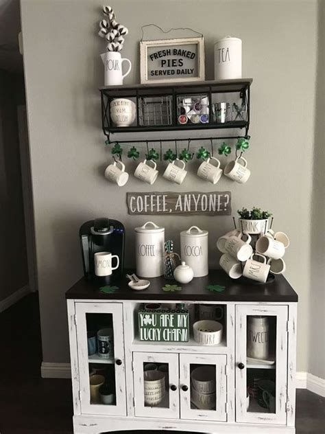 coffee corner ideas   home   farmhouse style