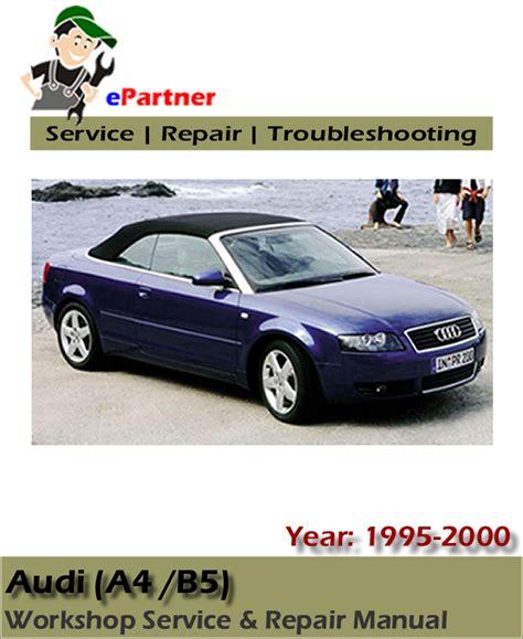 download car manuals 2000 audi a4 regenerative braking audi a4 b5 1997 1998 2001 mechanical service workshop repair manual