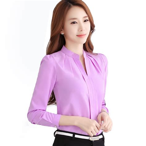 purple blouse womens 2016 office shirts blouses pink purple