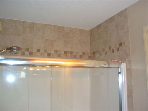 tile above the shower for the home tile
