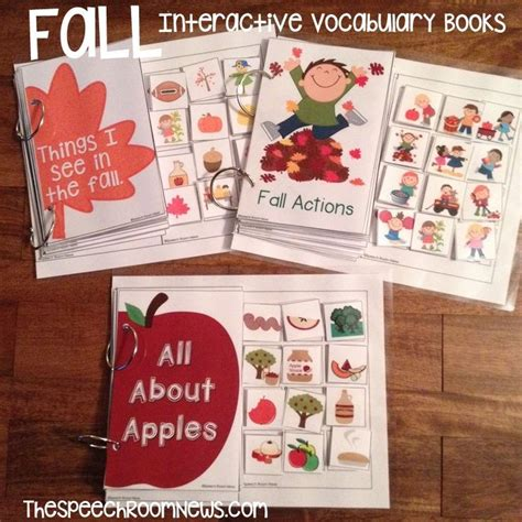 interactive preschool books interactive vocab books all about me amp fall from speech 449