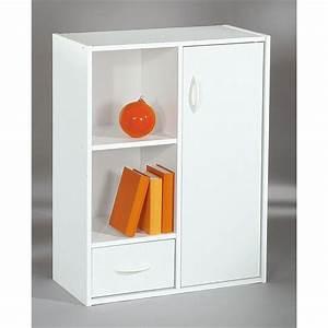 Meuble De Rangement Case : meuble de rangement 2 cases 1 tiroir 1 porte b achat ~ Teatrodelosmanantiales.com Idées de Décoration