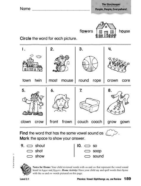 vowel diphthongs worksheet worksheets for all