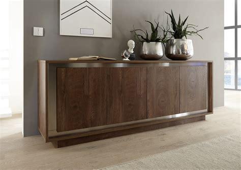 amber modern sideboard  oak cognac finish  inlays