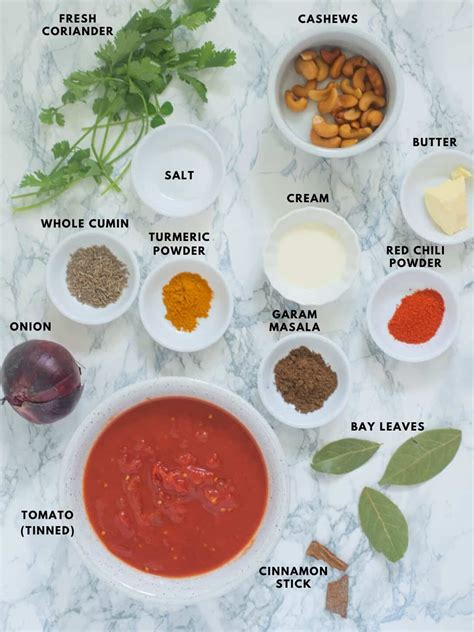 Chicken tikka masala is a flavorful spicy tomato based creamy curry. Chicken-Tikka-Masala-Sauce-Ingredients   Caramel Tinted Life