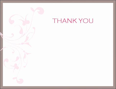 thank you card template in word 5 note card templates for word sletemplatess