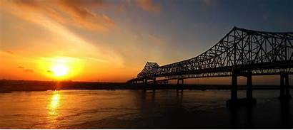 Orleans Louisiana Bridge United Infrastructure Sunrise Community
