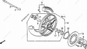 Honda Motorcycle 1983 Oem Parts Diagram For Front Wheel