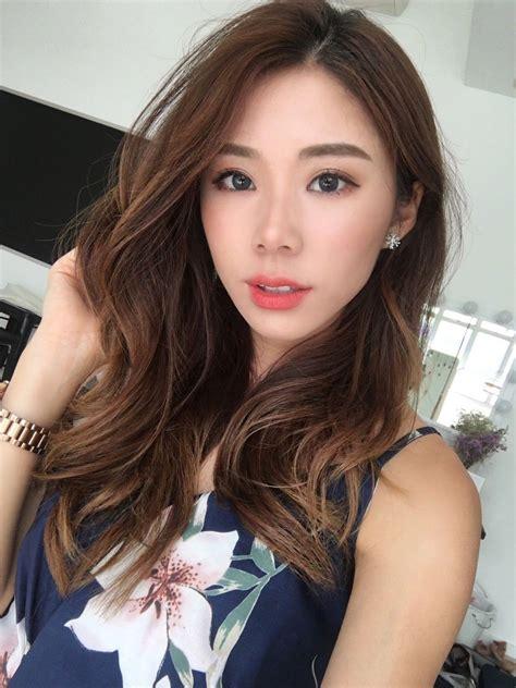 korean girl long hair wavy hairstyle