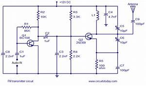 Simple Fm Transmitter Circuit Based On Two Transistors